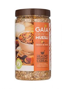 Gaia Crunchy Muesli Fruit and Nut Packed with Fibre, Iron and antioxidants