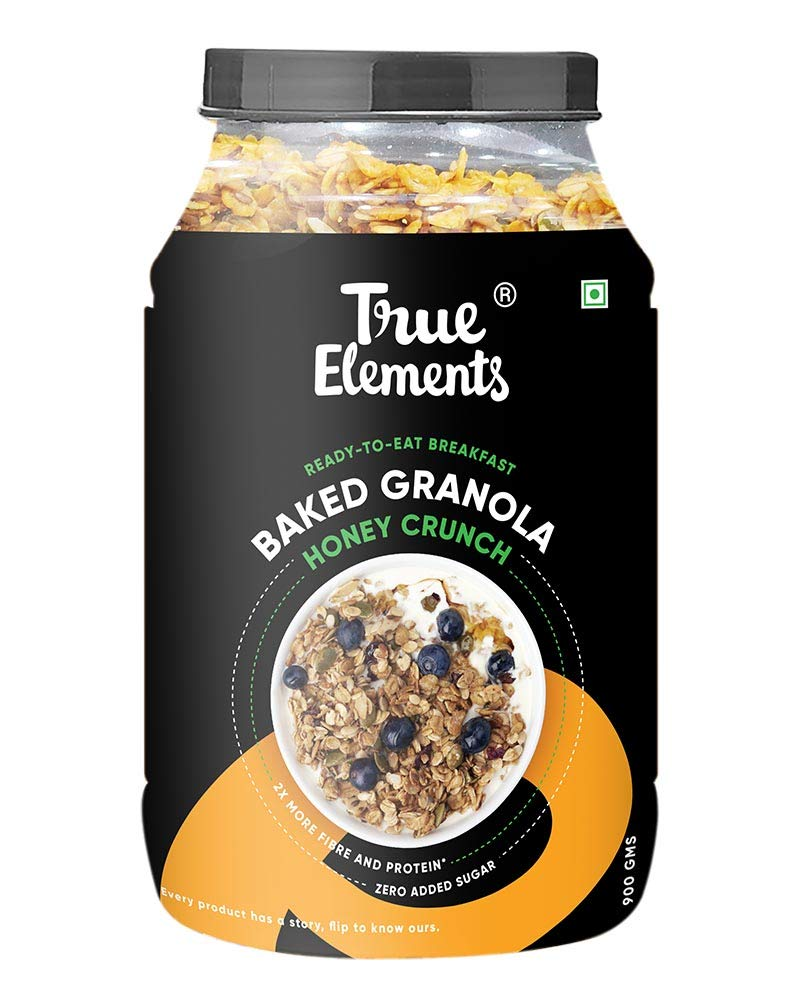 True Elements – Baked Granola with Cranberries & Almonds